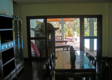 view from the dining area