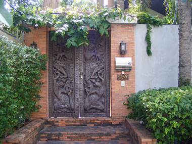 Entrance to the Koh Samui holiday home