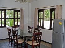 Dining area with garden view