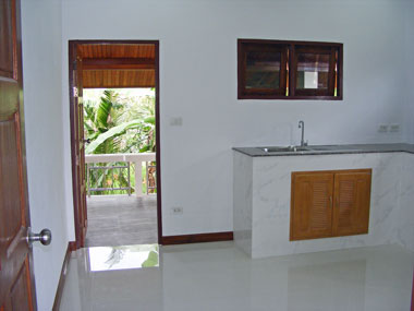 Kitchen and rear terrace