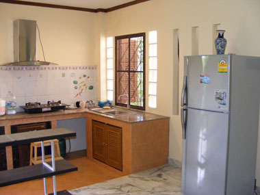 Kitchen with fridge-freezer